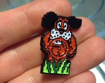 DUCK HUNT NINTENDO Shoot the Laughing Dog Lapel Pin nes video game 80's 8 bit gamer