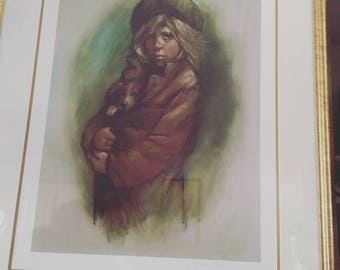 Vintage Barry Leighton Jones signed and numbered print