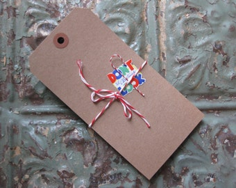 30 LARGE Recycled Kraft Tags with Reinforced Hole, Gift Tags, Cards, Banners, Rustic Wedding