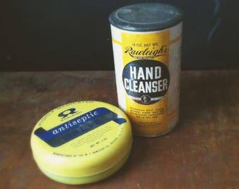 Vintage Rawleigh's Hand Cleanser & Antiseptic Salve Tin