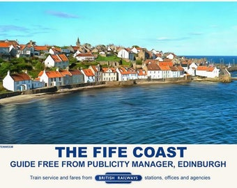 Vintage Style Railway Poster Pittenweem Fife Coast  A3/A2 Print