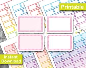Pastel Stitched Half box Planner , Printable Planner, Printable Sticker, Erin Condren Planner Sticker