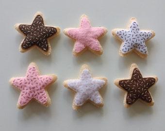 neopolitan star felt food sugar cookie set