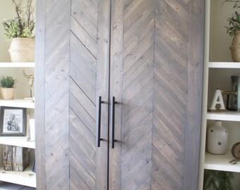 Media Wall Sliding Barn Door Hardware Kit to use with Shanty2Chic DIY Plans