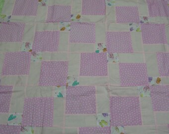 New Quilt Top for Girl-48x62 inches