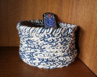 Crocheted Yarn Basket