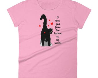Valentines Day Shirt - Cat Valentines Day Gift Idea - Gift for Cat Mom - Funny Tuxedo Cat Tshirt - Cat Gift for Her - I love you Tshirt