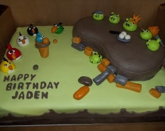 Angry Birds Cake Topper. (28 pcs)