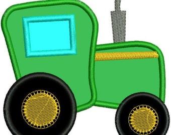 Applique Farm Tractor Machine Embroidery Designs 4x4 & 5x7 Instant Download Sale