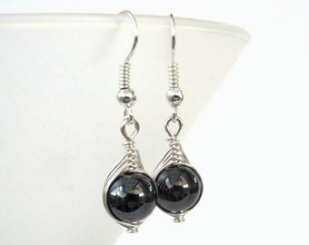 gift earrings wire hematite congratulations market etsy handmade wrapped il friend