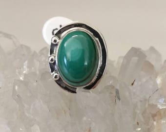 Malachite Ring Size 5 1/2