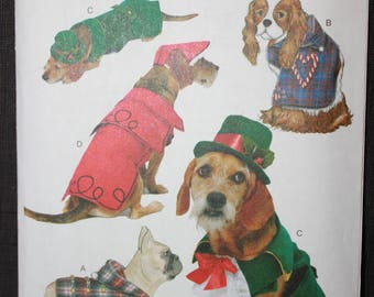 Butterick 6536  BP317   Holiday Pet Coats and Hats in Sizes Small, Medium, Large and Xlarge