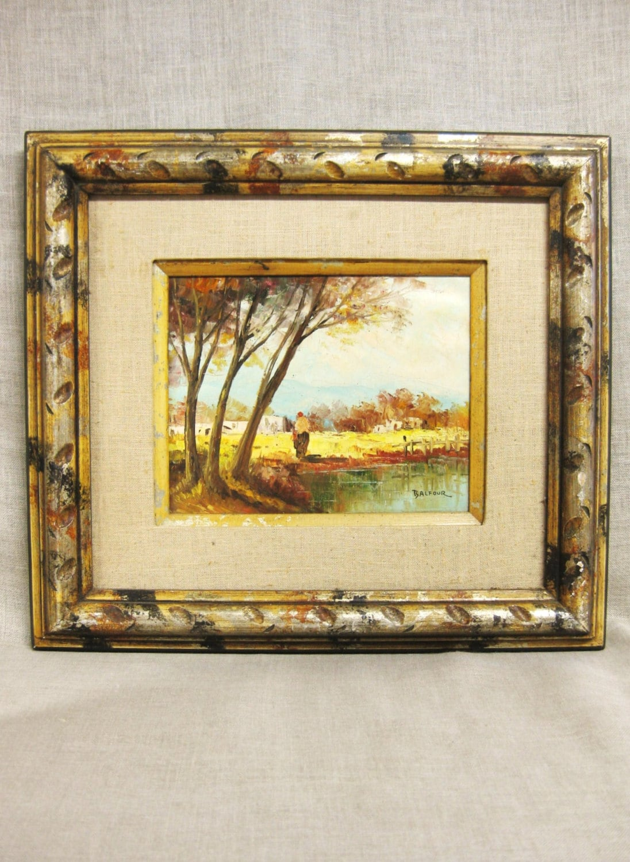 Mid-Century Landscape Painting Signed Balfour Original Fine