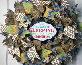 Baby Shower Gift, New Baby Wreath, Baby Wreath, Baby Gift, Baby Wreath For Hospital Door, New Baby Wreath