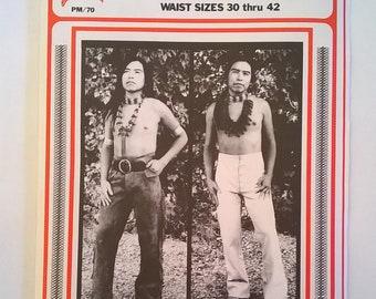 Early Frontiersman's Pants Pattern - Waist Sizes 30 - 42; Men's Leather Pants Pattern - Uncut Sewing Pattern