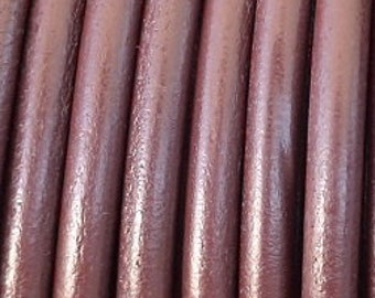 4.5mm leather cord, brown leather, 1 yard / meter, High quality Spanish leather cord, leather spool, leather cording, leather Lacing