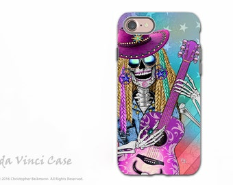 Country Girl Sugar Skull iPhone 7 / 8 Tough Case - Country Western Dia De Los Muertos Dual Layer Case for Apple iPhone 7 - Scary Underwood