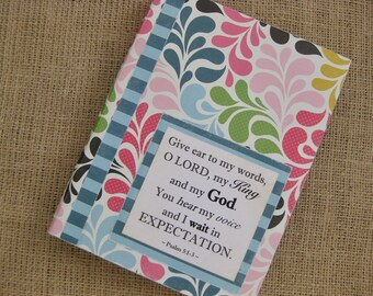 Legacy Prayer Journal, Bound Book, Multicolored Bright Swirls with Turquoise Striped Accents