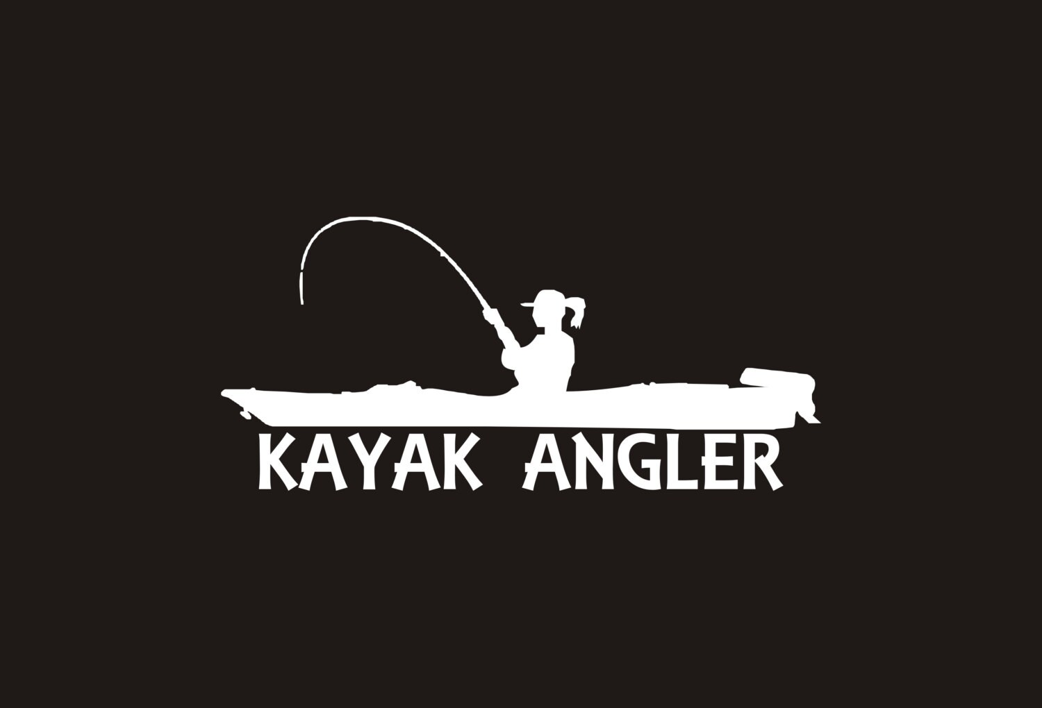 Female Kayak Angler Decal Girl