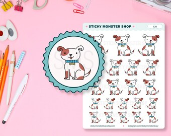Dog - Puppy - Doggie - Pet - Doggy- Hand drawn Stickers- Planner Stickers [139]
