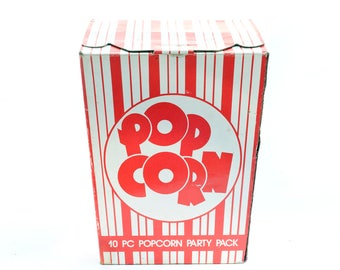 10 Piece Popcorn Party Pack Set Vintage Retro 80's 90's