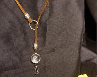 Suede and silver lariat