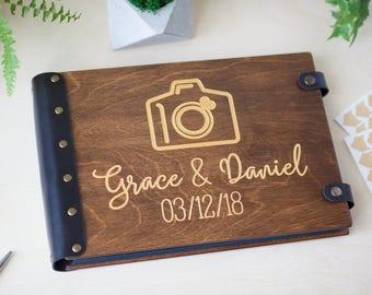 Wedding Album, Photo Album, Custom Wedding Album, Custom Album, Photo Book, Wood Photo Album, Golden Calligraphy, Photo Guest Book, Wedding