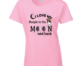 I Love My Beagle Black T Shirt