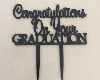 Congratulations On Your Graduation Cake Topper