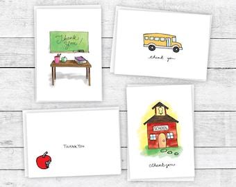 Thank You School Collection - 24 Cards & Envelopes