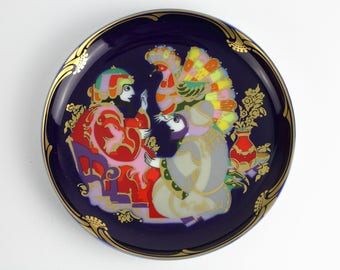Björn Wiinblad for Rosenthal porcelain wall plate magic horse, west Germany, Mid Century 60s
