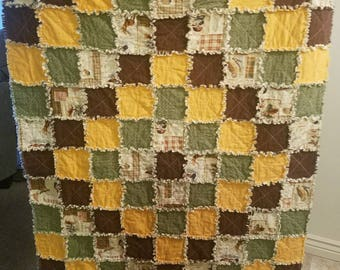 Rag Quilt Handmade throws Handmade quilts Rag quilt throws Rag quilt rustic Patchwork quilts Country quilts Cabin quilts Twin Full top sell