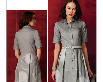 Vogue Pattern V9269 Misses'/Misses' Petite Shirtdress with Appliques