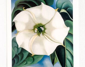 Georgia O'Keeffe / Jimson Weed  / 1932 / Art / Book Page Print / Published 1990's