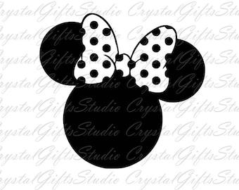 Disney svg, minnie bow svg, minnie mouse svg, minnie svg, disney minnie svg, cartoon svg, svg file for cricut, silhouette, svg files, svg