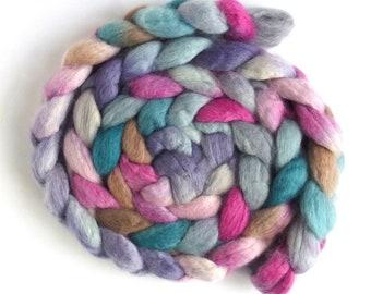BFL Wool Roving - Hand Painted Spinning or Felting Fiber, Sing Me to Sleep