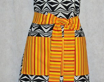 Black White Ladies Apron, Beautiful Full Size, Trendy With Big Pockets, Custom Personalize With Name, No Shipping Fee, Ships TODAY, AGFT 616