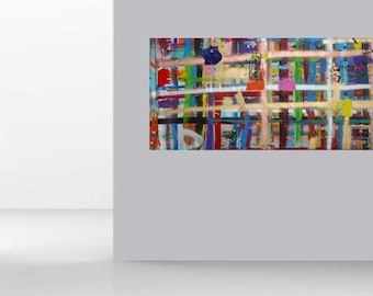 xxl Abstract Art Picture Modern Painting Canvas Acrylic Painting by Micha