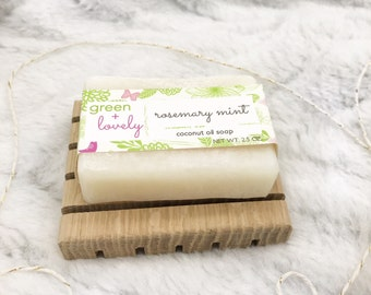 Soap, Bar Soap, Rosemary, Mint, Natural Soap, Essential Oil Soap, Chemical Free, Vegan Friendly, Body Wash, All Natural, Gift, Moisturizing