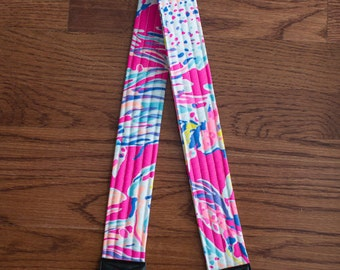 CAMERA STRAP in Lilly Pulitzer 2016 Pink Sunken Treasure