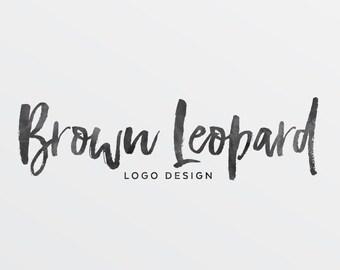 Premade Logo Design, calligraphy logo for Photographers, modern graphic design for small business, customizable logo, branding, blog logo