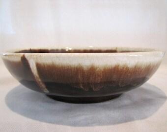 Brown Drip Glaze White Foam Serving Bowl