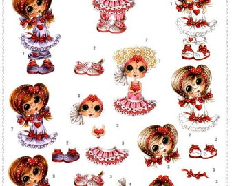 107 - Image sheet by cutting girl sherri baldy