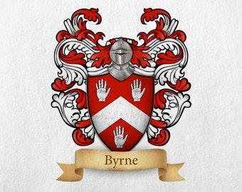 Byrne Family Crest - Print