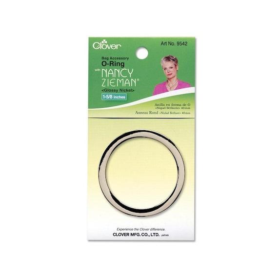 Clover Nancy Zieman O Ring 1 5/8 Inch 40mm Glossy Nickel Purse Bag ...
