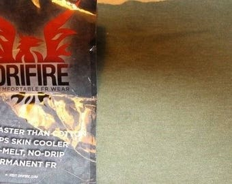 Drifire Ultra-Lightweight FOLIAGE GREEN Fabric Fire Resistant Free shipping