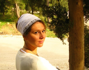 WHITE kundalini  HEADWRAP,yoga head wrap,yoga headband,yoga hair tie,head covering,wide head scarf,pure white head wrap