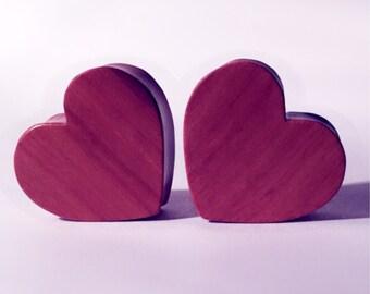 25mm Cherry wood heart plugs!