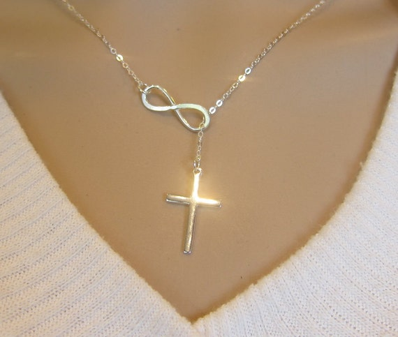 cross products necklace lariat pendant store infinity modern style