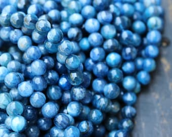 Kyanite Beads, Blue Gemstone, Natural Gemstone, Blue Beads, 7mm Blue Beads, Kyanite Beads, 8mm Round Beads,